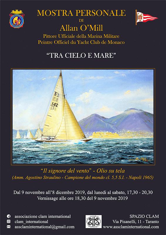 """manifesto della mostra """"tra cielo e mare"""""""