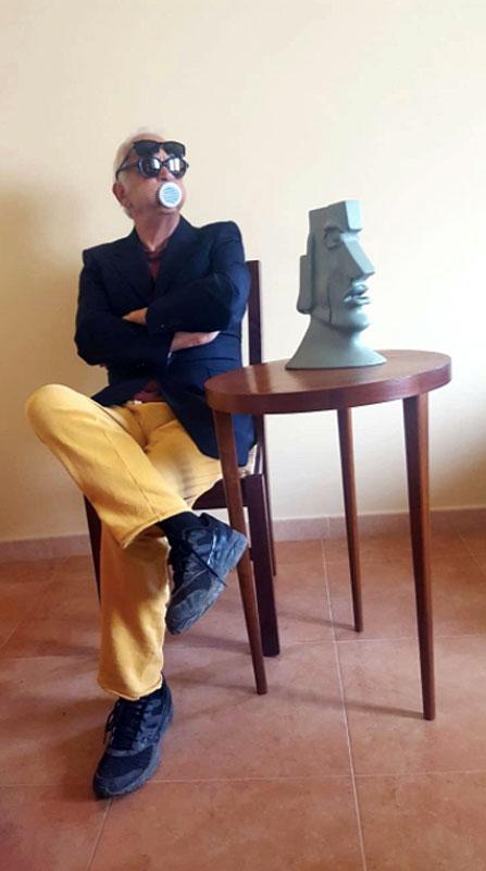 Piero Nardelli in posa per Masks