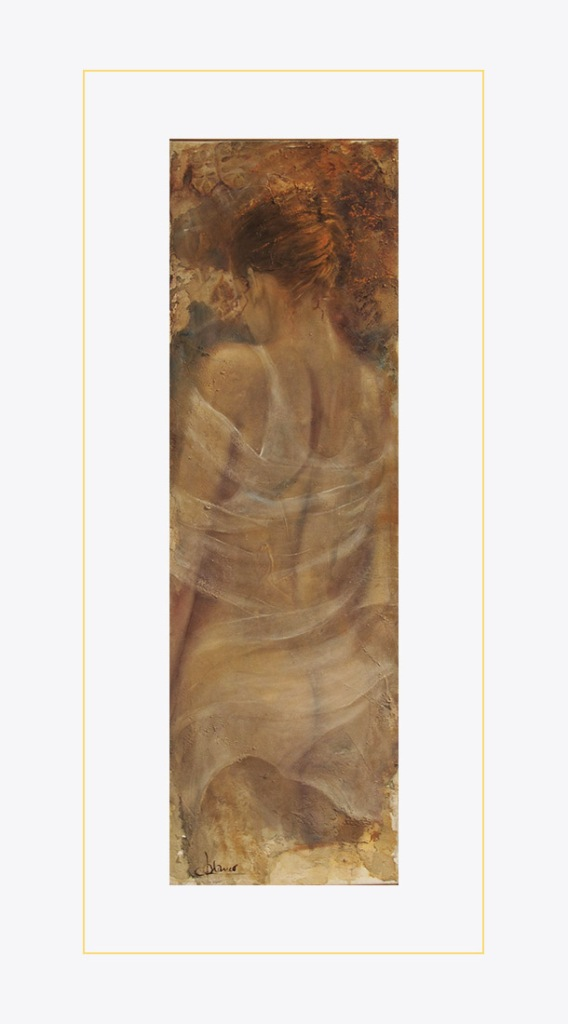 Carmen Manco - Ninfa, tecnica mista su tela